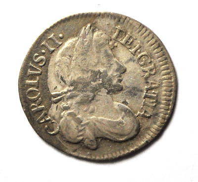 1679 Great Britain 4 Four Pence Groat Silver Coin Rare KM# 434