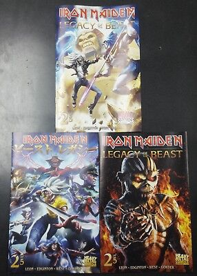 Iron Maiden Legacy of the Beast #2 Cover A B C 3 Comic Book Set Heavy Metal NM