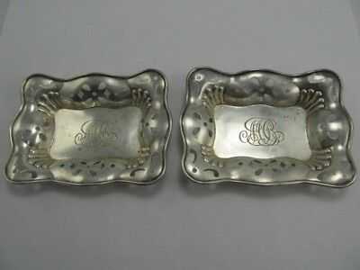 Black Starr Frost Sterling Small # 3401 Candy / Nut Dishes Xlnt Condition Mono