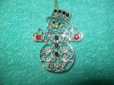 Stunning Danbury Mint The dazzling Crystals Snowman Christmas Ornament NEW