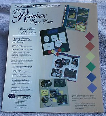 Creative Memories RAINBOW Printed Photo Mounting 10x12 Paper - NIP