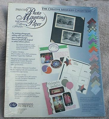 Creative Memories CHECKS Printed Photo Mounting 10x12 Paper - NIP