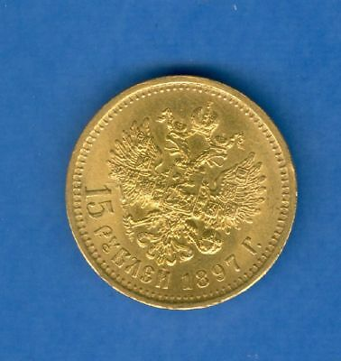 Russland 15 Rubel 1897 Top Stgl Gold