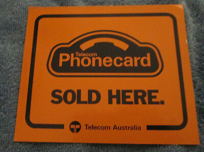 Rare! Early 90's Original Large Telecom Phonecards Sold Here Sticker!
