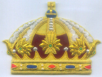 Medieval Royal Family Crown Sweden King Kingdom Empire Dynasty Heraldry  Patch