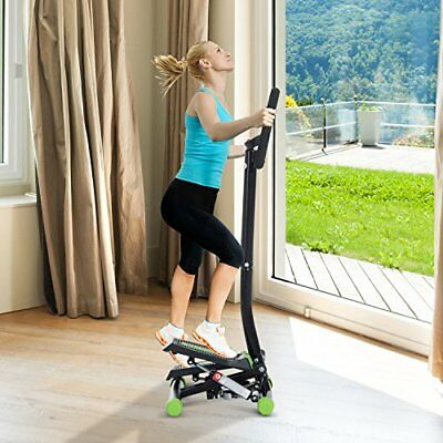 Sports Mini Stepper with Handle Workout Fitness Machine Pulling Rope Sport Exerc