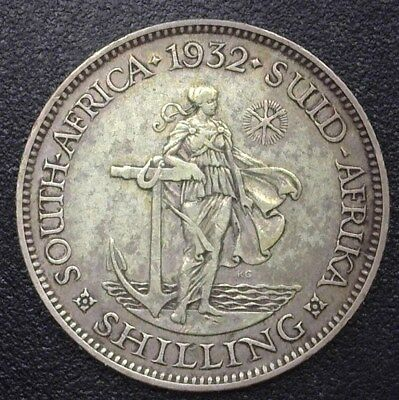 South Africa 1932 Silver Shilling  Choice Extremely Fine  Km#17.3