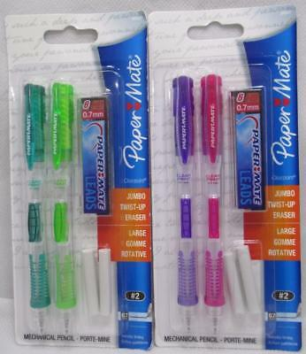 4 PaperMate ClearPoint Mechanical Pencils w/ Jumbo Twist Up Erasers 2 Packs of 2
