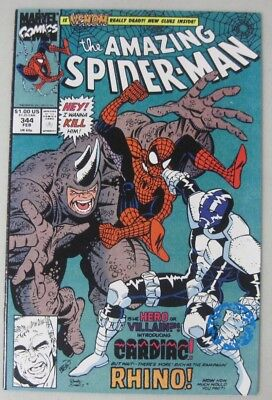 Amazing Spider-Man #344 Marvel Comics 1St Appearance Of Cletus Kasady Carnage