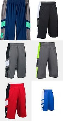 New Under Armour Boys' Step Back Athletic Shorts Small, Medium, Large, and XL