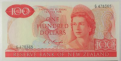 New Zealand, 100 Dollars 1975, P-168b, *Scarce* (DD620a) UNC-