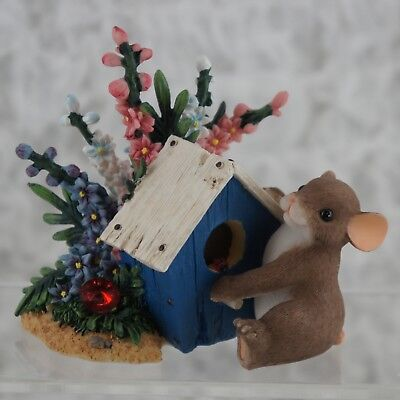 NIB 89_226 Charming Tails Seasonal I am Right At Home With You Mouse