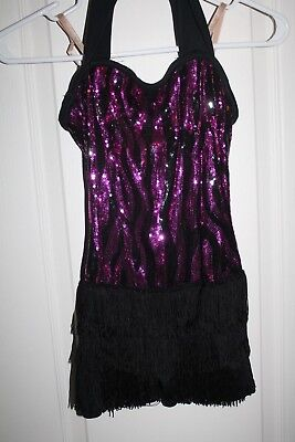 Weissman Dance Jazz Party Dress Up Sequin Costume MC TAP COMPETITION PAGENT