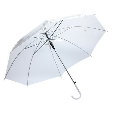 Large Clear Dome Umbrella Aut Handle Transparent Folding Walking Brolly Lady