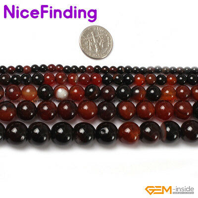 Natural Round Dream Lace Agate Gemstone Loose Beads For Jewelry Making Strand 15