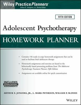 Adolescent Psychotherapy Homework Planner (Paperback or Softback)