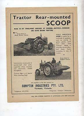 Tractor Mounted Rear Scoop Advertisement Fordson Nuffield David Brown Ferguson