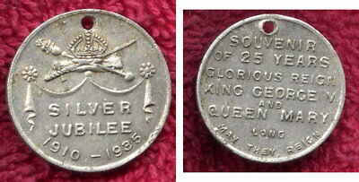 1935 Silver Jubilee King George v. and Queen Mary Token