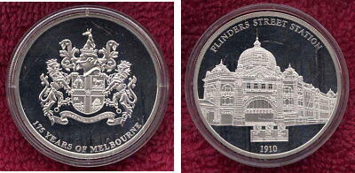 175 Years of Melbourne Token Proof Like.