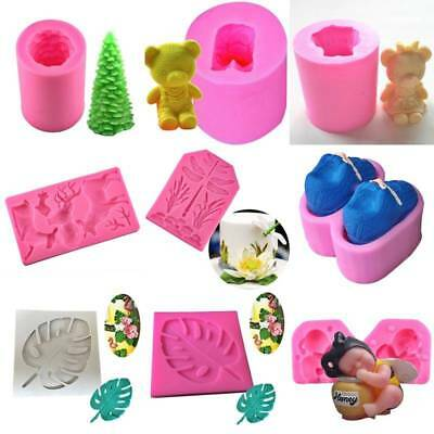 3D Silicone Fondant Mold Cake Chocolate Sugarcraft  Soap Baking Mould Tool DIY