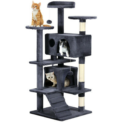 New 51.2'' Cat Tree Tower Condo Furniture Scratching Post Pet Kitty Play House