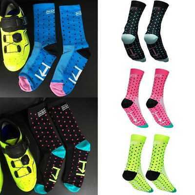 Mens Womens Sport Bike Cycling Bicycle Riding Socks Running Castelli Breathable.