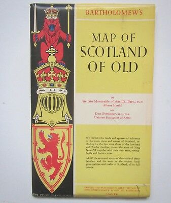 Old 'Bartholomew's Map of Scotland of Old