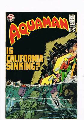 Aquaman # 53 Is California Sinking ?! grade 6.0 scarce book !!