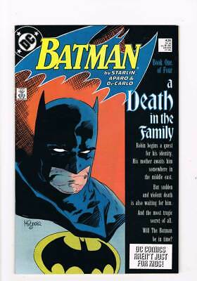 Batman # 426 A Death in the Family - Chapters I & II ! grade 9.2 scarce book !!