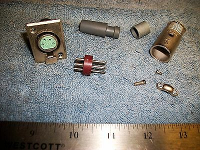 SET OF ITT CANON 4 PIN AUDIO LOCKING CONNECTORS M/F s
