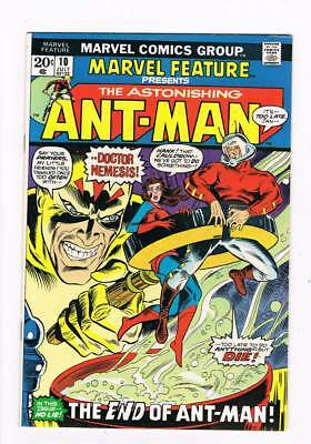 Marvel Feature # 10  The End of Ant-Man   grade 8.0  scarce book !!