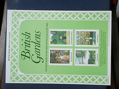 Royal Mail A4 Post Office Poster 1983 British Gardens Pitmedden Biddulph Grange