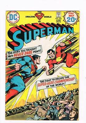 Superman # 276  In Battle with Captain Thunder !  grade 4.0 scarce book !