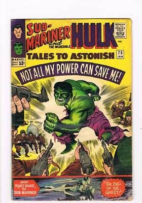 Tales to Astonish # 75  My Power Cannot Save Me !  grade 5.0 scarce book !!