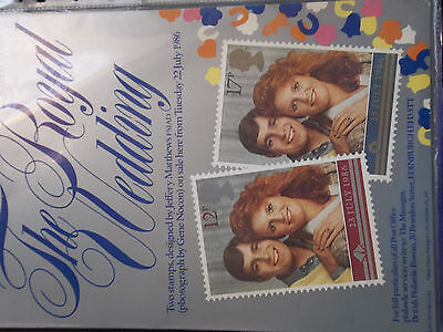 Royal Mail A4 Post Office Poster 1986 Royal Wedding Prince Andrew Sarah Ferguson