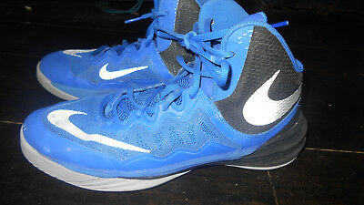 Nike Boy's Basketball Prime Hype DF II Shoes Size 7Y Blue Grey 807613-401 Cheap!