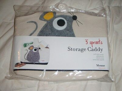 3 Sprouts -  Storage Caddy -  Grey Mouse - New