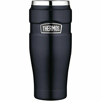 Thermos Stainless King SK1005MB4 16-Ounce Leak-Proof Travel Mug, Midnight Blue