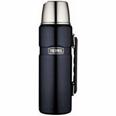 Thermos Stainless Steel King 40 Ounce Beverage Bottle, Midnight Blue