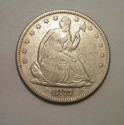 1877 S  Seated Liberty Half  Dollar Fine