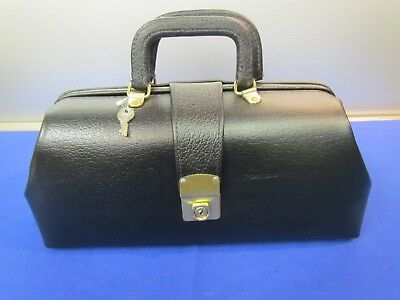 Black  Genuine  Leather Physician Doctors Medical Bag Case Usa