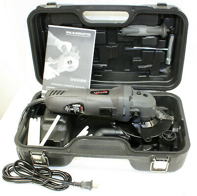 "Dual Blades Electric Hand Held Circular Cutter Cut Saw w/ 5"" Double Blades"