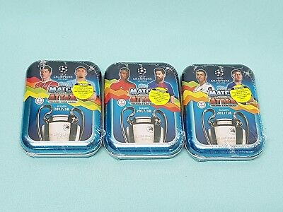 Topps Match Attax Champions League 2017/2018 alle 3 Mini Tin 3 x Limited Edition