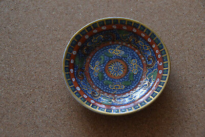 Antique Chinese Highly Decorated Hand Painted Enamelled Clobbered Dish