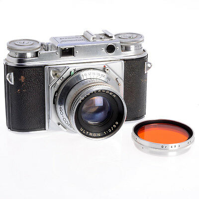 Voightlander Prominent 1 Collectible 35mm German Camera - Sticking Shutter As-Is