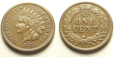 Sharp X/f+ 1873 Indian Head Cent-Crisp Details!  Free Shipping!