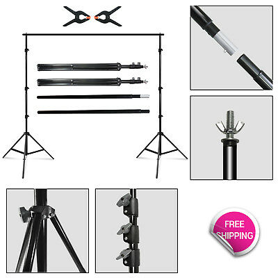 7.4' x 10' Photography Photo Studio Backdrop Support Stand w/Clamps & Carry Case