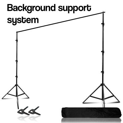 10 Ft. Photography Studio Background Muslin Support System w/ Clamps & Carry Bag
