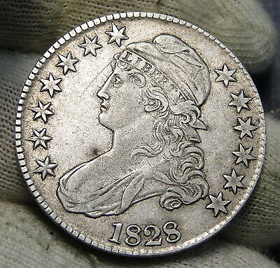 1828 Capped Bust Half Dollar 50 Cents - Nice Coin Free Shipping (4527)