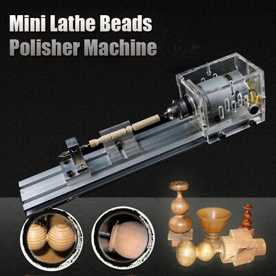 Mini Lathe Beads Polisher Machine Kit Tool For Table Woodworking Wood 24V 80W